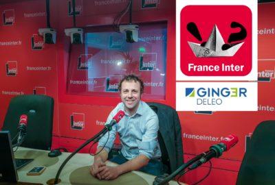 Damien Orcel au studio de France Inter