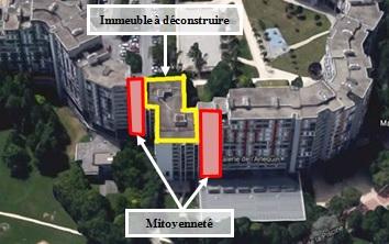 Immeuble à désamianter et à démolir à Grenoble