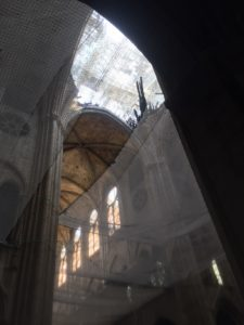 Vue intérieure travaux Notre Dame